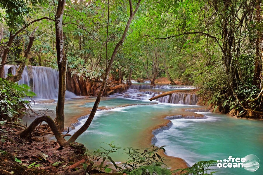 LUANG PRABANG WATERFALL LAOS