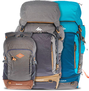 TRAVEL BACKPACKS DECATHLON