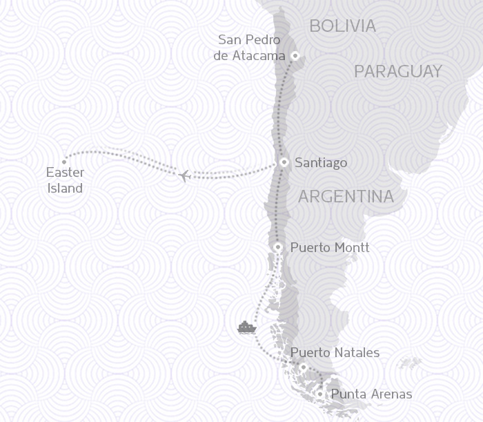 MAP ROUTE CHILE