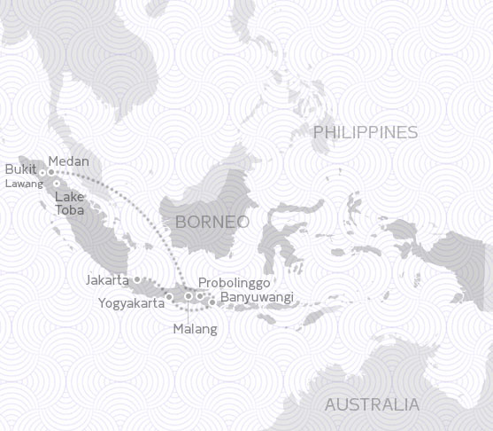 MAP ROUTE INDONESIA