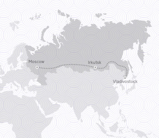 MAP ROUTE RUSSIA