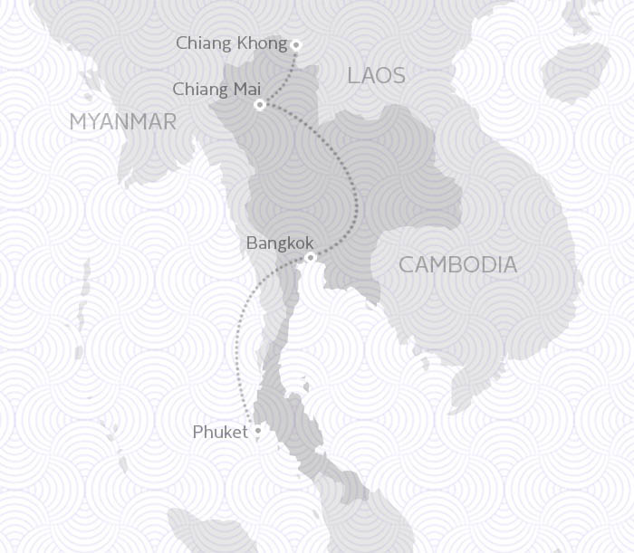 MAP ROUTE THAILAND