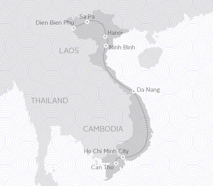 MAP ROUTE VIETNAM