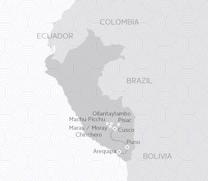 MAP ROUTES PERU