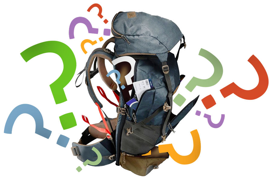 BACKPACK QUESTION MARK